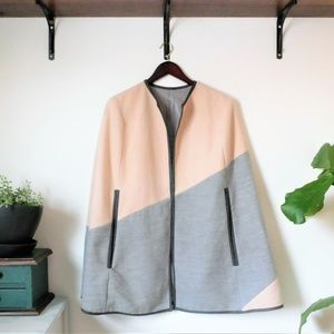 Asos Cape in Gray and Cream One Size